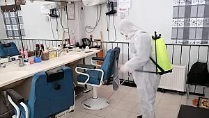 Berber ve kuaför salonlarına dezenfekte