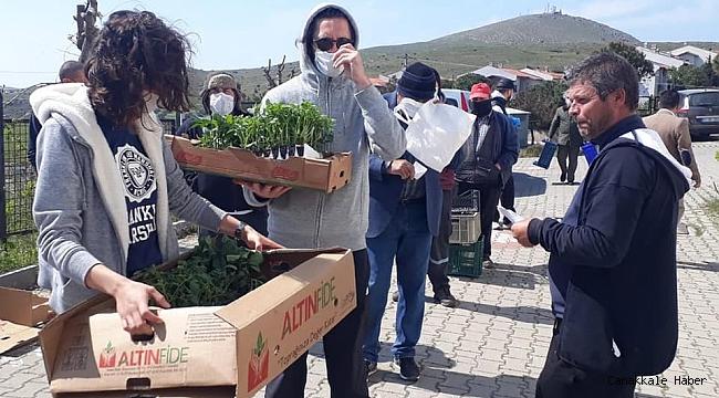 Bozcaada'da üreticiye destek