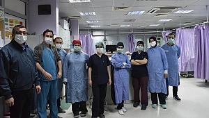 Çan'da sağlık çalışanları unutulmadı