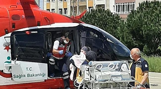 Helikopter ambulans hayat kurtarıyor
