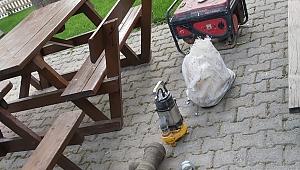 Su deposu hırsızları yakalandı