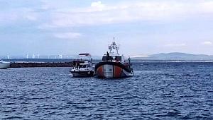 Arızalanan özel tekne sürüklendi