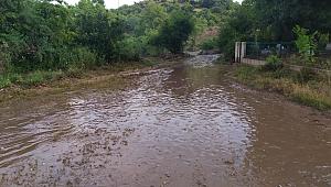 Çan Yaya köyde su taşkını