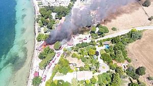 Dardanos'ta yangın paniği