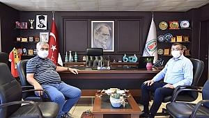 Sarıbaş'tan Başkan Öz'e ziyaret