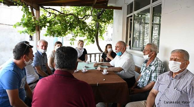 Başkan Gökhan'dan köylere ziyaret