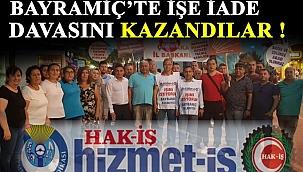 Bayramiç Belediye'sinden çıkarılan işçiler davayı kazandı