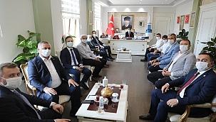 Belediye Başkanlarından Vali Aktaş'a ziyaret