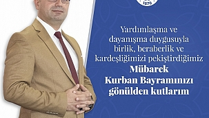 Biga Belediye Başkanı Bülent Erdoğan 'ın Kurban bayramı Mesajı
