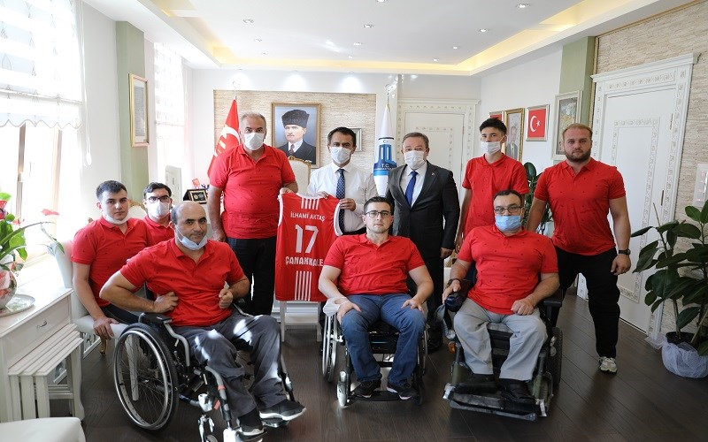 Boğazgücü Engelliler Gençlik Spor Kulübü'nden Aktaş'a ziyaret