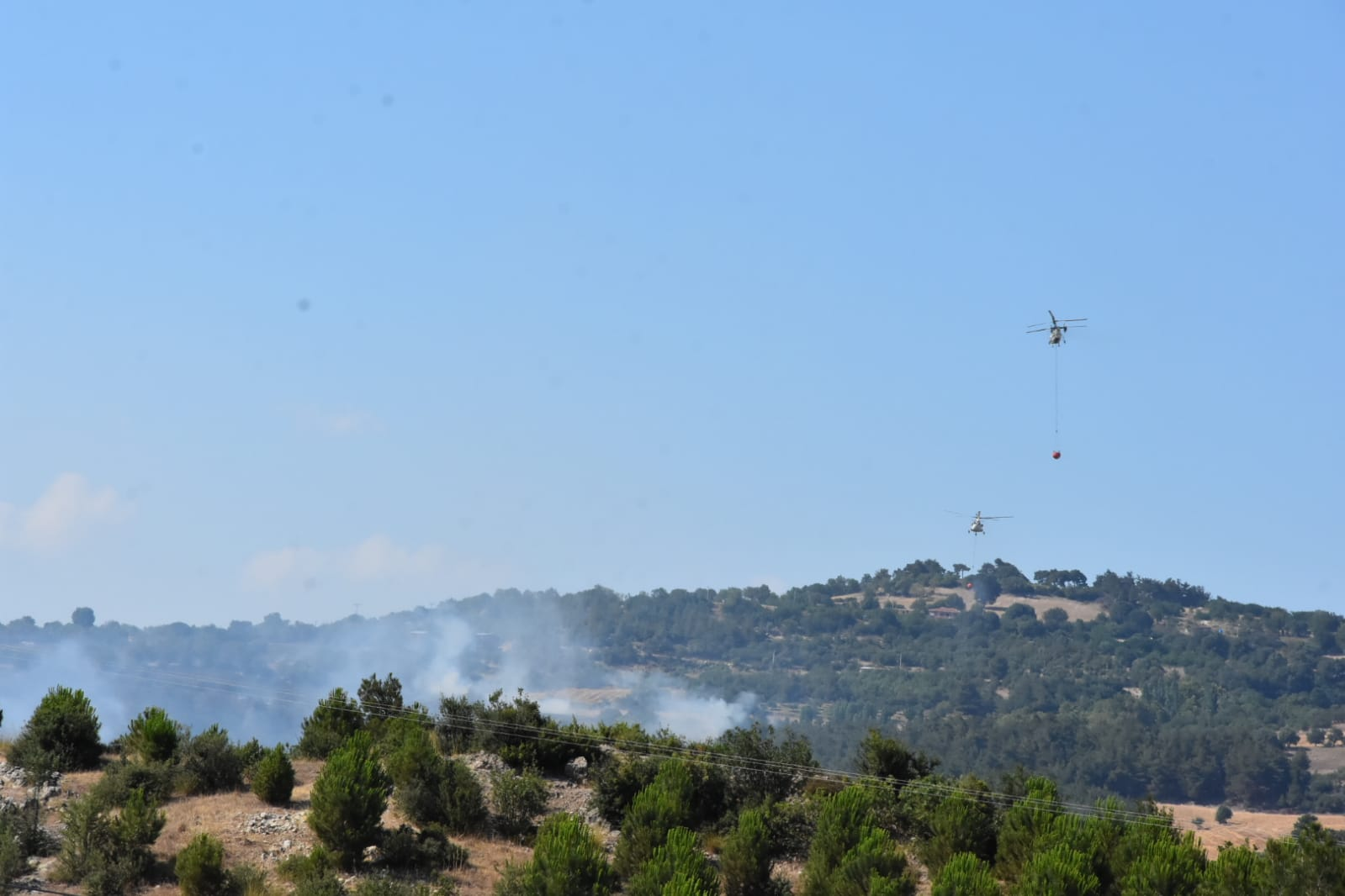 Çanakkale'de orman yangını 4