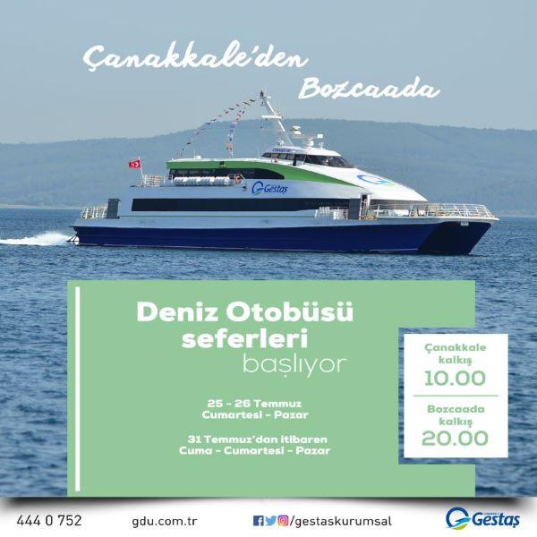 Çanakkale'den Bozcaada'ya deniz otobüsü seferleri başlıyor