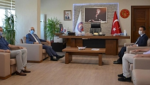 Çanakkale Valisi Aktaş, ÇOMÜ Rektörü Prof. Dr. Sedat Murat'ı ziyaret etti