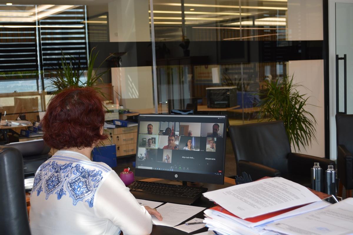 ÇTSO online toplantı yaptı