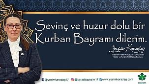 Gelecek Partisi Kurucular Kurulu Üyesi Kültür ve Turizm Politikaları Başkanı Yeşim Karadağ 'ın Kurban Bayramı Mesajı