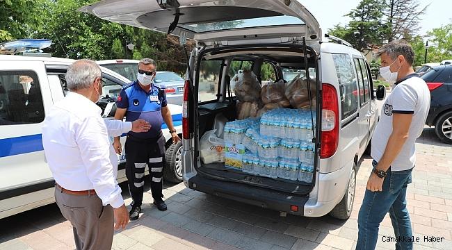 Gelibolu Belediyesi'nden kumanya desteği