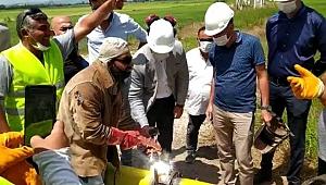 Gümüşçay'da doğalgaz sevinci