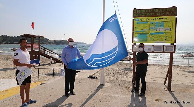 Hamzakoy'a mavi bayrak…