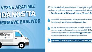 Dardanos'ta mobil vezne hizmeti...