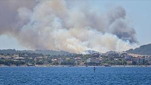 Son dakika.. Çanakkale Eceabat'da yangın !3