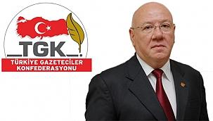 """TGK Başkanı'ndan; """"Özgür basın halkın güvencesidir"""""""