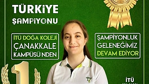 Türkiye şampiyonu Çanakkale Doğa Koleji'nden