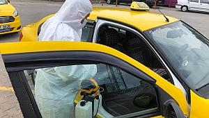 Ulaşım araçları dezenfekte edildi