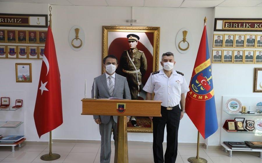 Vali Aktaş'tan Jandarma Komutanlığına ziyaret