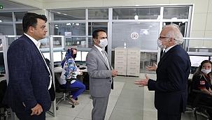 Vali İlhami Aktaş, 112'de incelemelerde bulundu