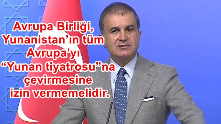 AK Parti Sözcüsü Çelik'ten, Yunanistan'a 'AB'ye çağrı' tepkisi !