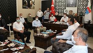 Başkan Uygun'a CHP'nin önemli isimlerinden ziyaret