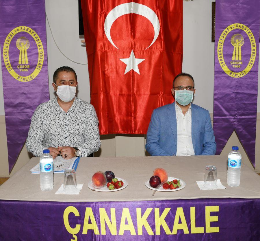 Bülent Turan, ÇESOB toplantısında !