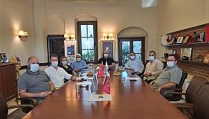 ÇASİAD yönetim kurulu ziyaretçilerini ağırladı