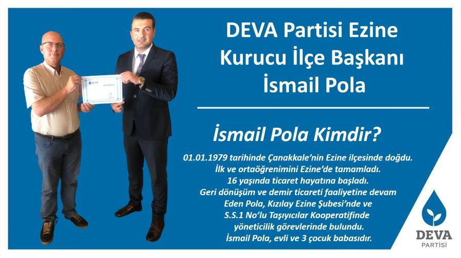 DEVA Partisi Ezine Kurucu İlçe Başkanı belli oldu !