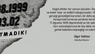 Gökhan'dan 17 Ağustos 1999 Depremi anma mesajı