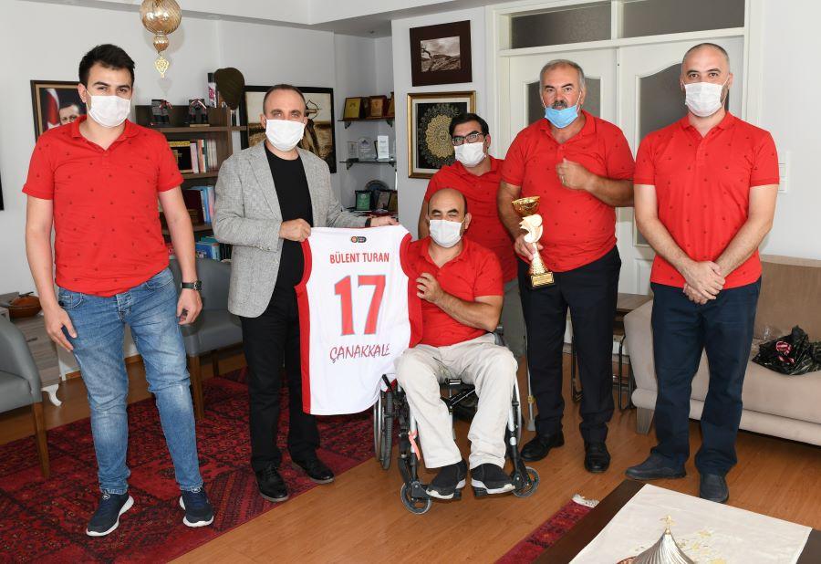 Turan'dan Boğazgücü Engelliler Gençlik ve Spor Kulübüne ziyaret