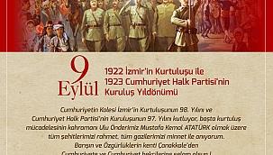 Başkan Gökhan'ın 9 Eylül mesajı