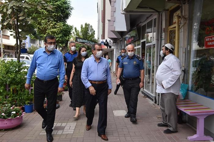Başkan Öz, koronavirüs denetimlerinde