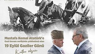 Başkan Özacar'ın 19 Eylül Gaziler Günü mesajı
