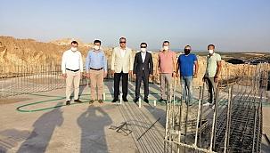 Başkan Semizoğlu Ezine Gıda İhtisas OSB İnşaatını ziyaret etti