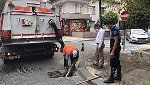 Çan Belediyesi Temizlik İşleri Müdürlüğü'nden yoğun yağışlara hazırlık