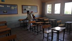 KPSS öncesinde okullar dezenfekte edildi