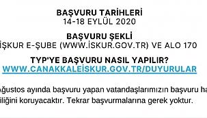 TYP kapsamında Çanakkale İl ve İlçe Milli Eğitim Müdürlüklerine 465 kişi alınacak!
