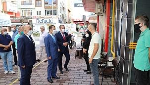 Vali Aktaş, Ahilik Haftası'nda esnafları ziyaret etti