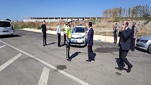 Vali Aktaş, Biga Göktepe Köyü Polis Uygulama Noktasını ziyaret etti
