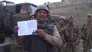 Azerbaycan askerinin mutluluğu
