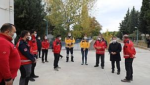 Aktaş'tan UMKE ekibine ziyaret