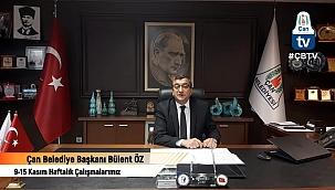 Başkan Öz, çalışmaları Belediye Tv üzerinden paylaşıyor