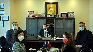 ÇOMÜ ÇOBİLTUM'dan Başkan Üzen'e ziyaret