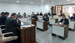 Yeni meclis salonunda ilk toplantı